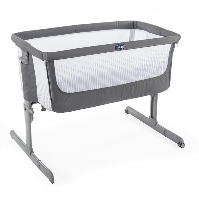 chicco next2me air side sleepign crib dark grey top up