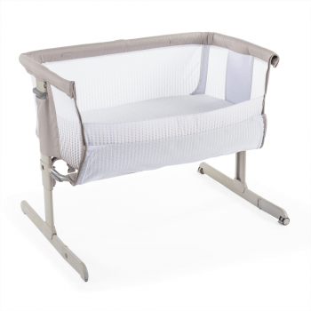 chicco next2me air side sleeping crib dark beige