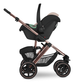 Tulip Car Seat Rose Gold Stroller Extended