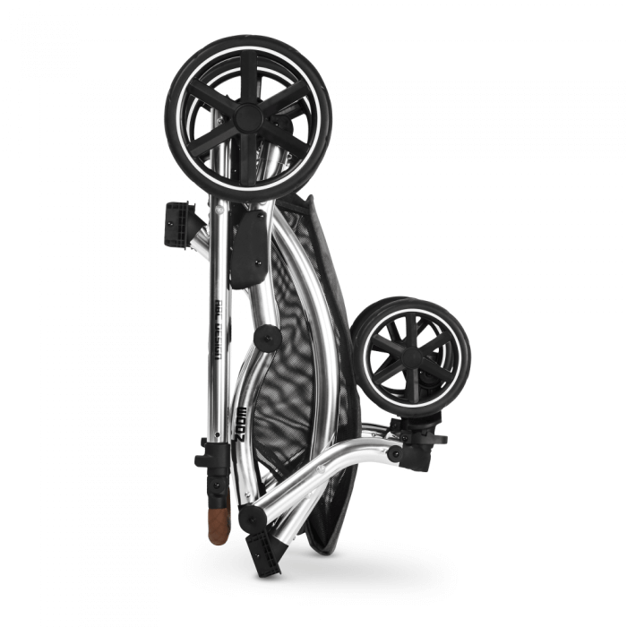 ABC Design Zoom Double Tandem Pushchair Close up Chassis Folded