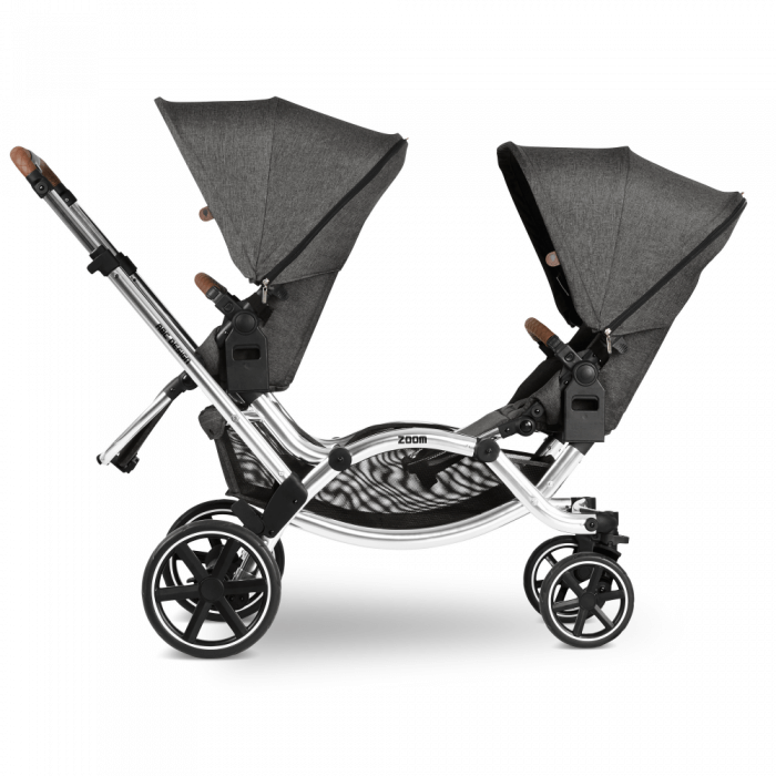 ABC Design Zoom Double Tandem Pushchair Side View 2 Seats Facing Parent