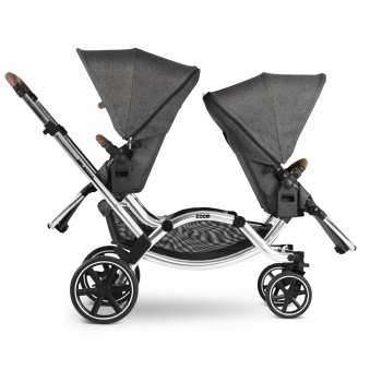 ABC Design Zoom Double Tandem Pushchair Side View 2 Seats Opposite