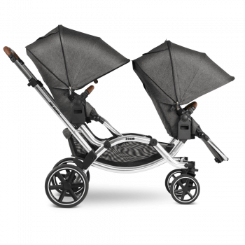 ABC Design Zoom Double Tandem Pushchair Side View 2 Seats Sunshade Down