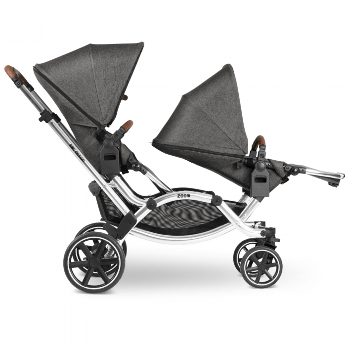 ABC Design Zoom Double Tandem Pushchair Side ViewSeat Reclined