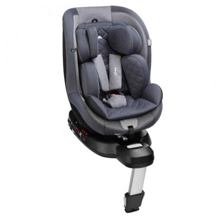 mee-go swirl 360 car seat pebble grey