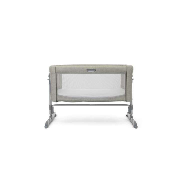 Joie Roomie Glide Side Sleeping Crib - Almond front back