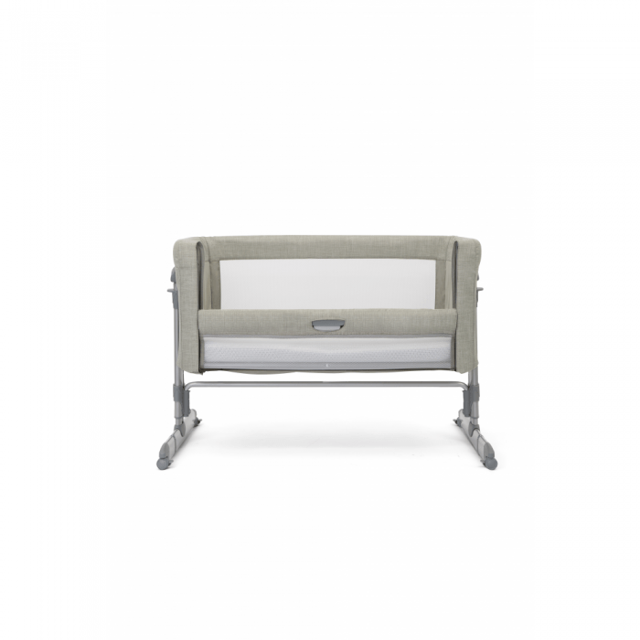 Joie Roomie Glide Side Sleeping Crib - Almond front down