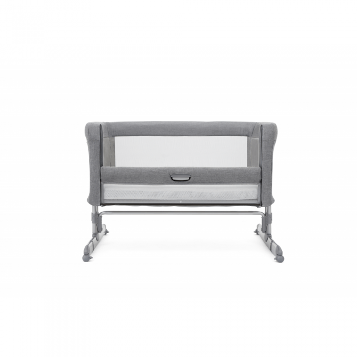Joie Roomie Side Sleeping Crib - Grey Flannel down
