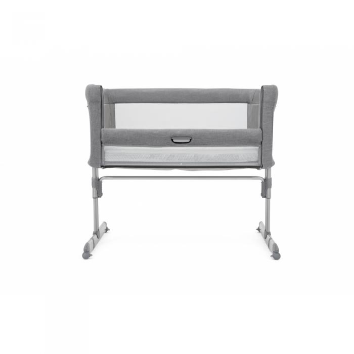 Joie Roomie Side Sleeping Crib - Grey Flannel side