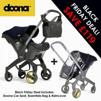 Doona Group 0+ Car Seat Stroller + FREE Raincover & Changing Bag – Racing Green