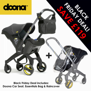 Doona Group 0+ Car Seat Stroller + FREE Raincover & Changing Bag – Urban Grey