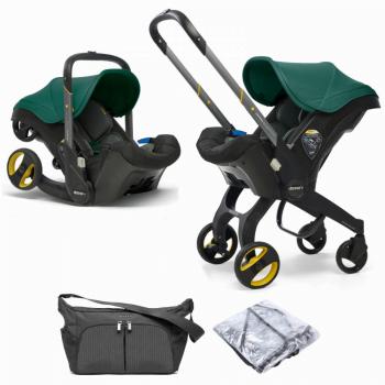 Doona Racing Green + Rain Cover + Essentials Bag