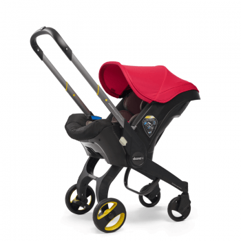 doona flame red stroller front