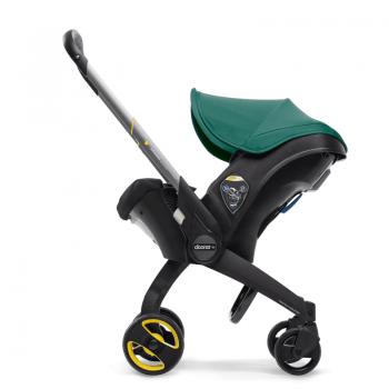 doona racing green stroller up