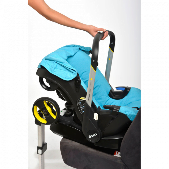 Doona Car Seat Pram & ISOFIX – Converts to Buggy or Group 0+ Car Seat – Nitro Black