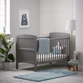 Grace Cot Bed- Taupe Grey- Lifestyle Image