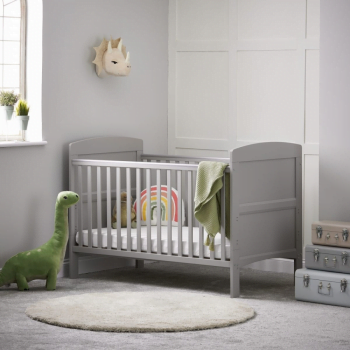 Grace Cot Bed- Warm Grey- Lifestyle Image