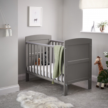 Grace Mini Cot Bed- Taupe Grey - Lifestyle Image