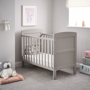 Grace Mini Cot Bed- Warm Grey- Lifestyle Image