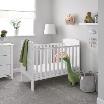 Grace Mini Cot Bed- White- Lifestyle Image