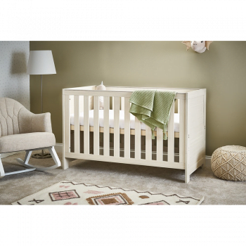 Nika Cot Bed- Oatmeal- Lifestyle