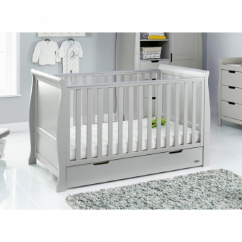 Stamford Classic Cot Bed- Warm Grey- Lifestyle