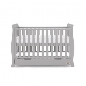 Stamford Mini Sleigh Cot Bed- Warm Grey- Highest Level Cot