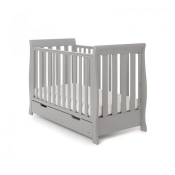 Stamford Mini Sleigh Cot Bed- Warm Grey- Main Image