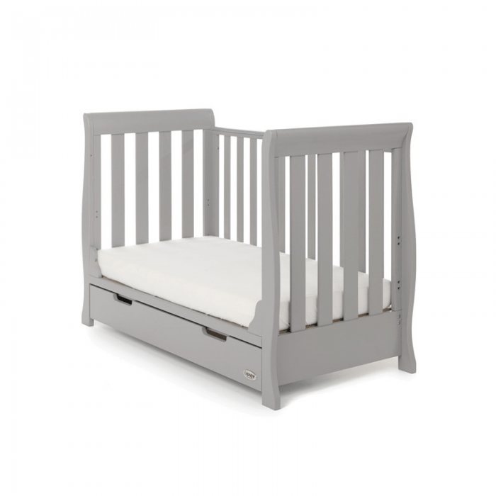 Stamford Mini Sleigh Cot Bed- Warm Grey- Toddler Bed
