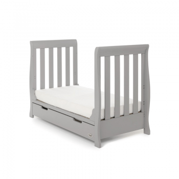 Stamford Mini Sleigh Cot Bed- Warm Grey- Toddler Beds No Sides