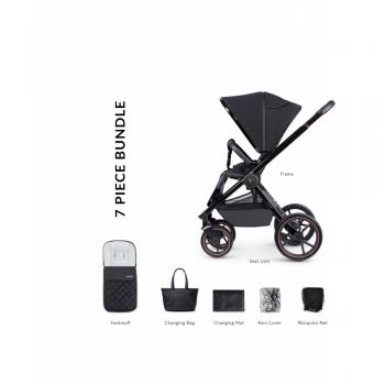 Venicci Tinum Special Edition Pushchair and Accessories - Stylish Black (7 Piece Bundle)