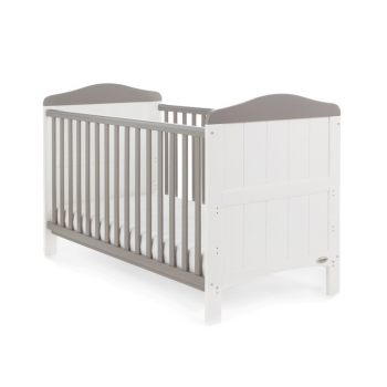 Whitby Cot Bed- White with Taupe Grey- Main Image