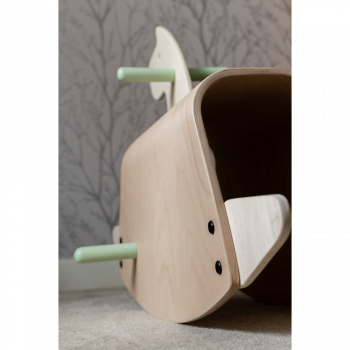 Callowesse Pinto Wooden Rocking Horse - 4