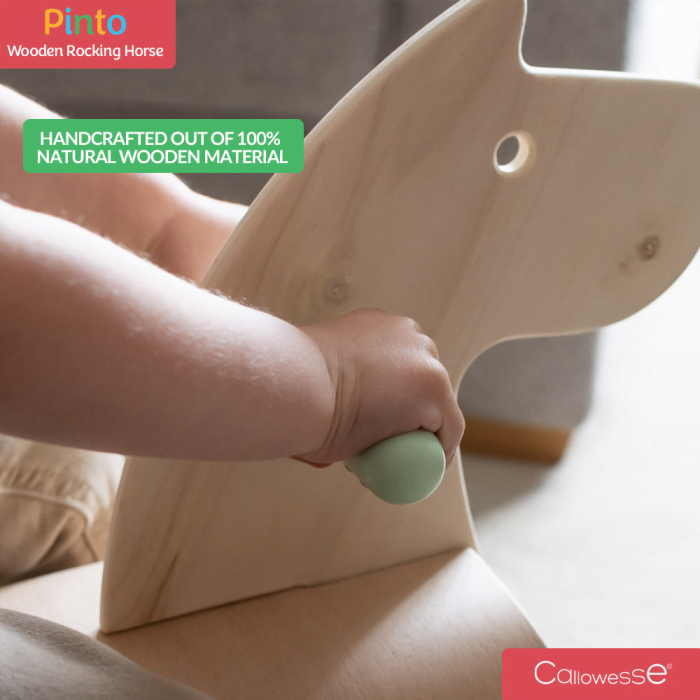 Pinto Wooden Rocking Horse 2