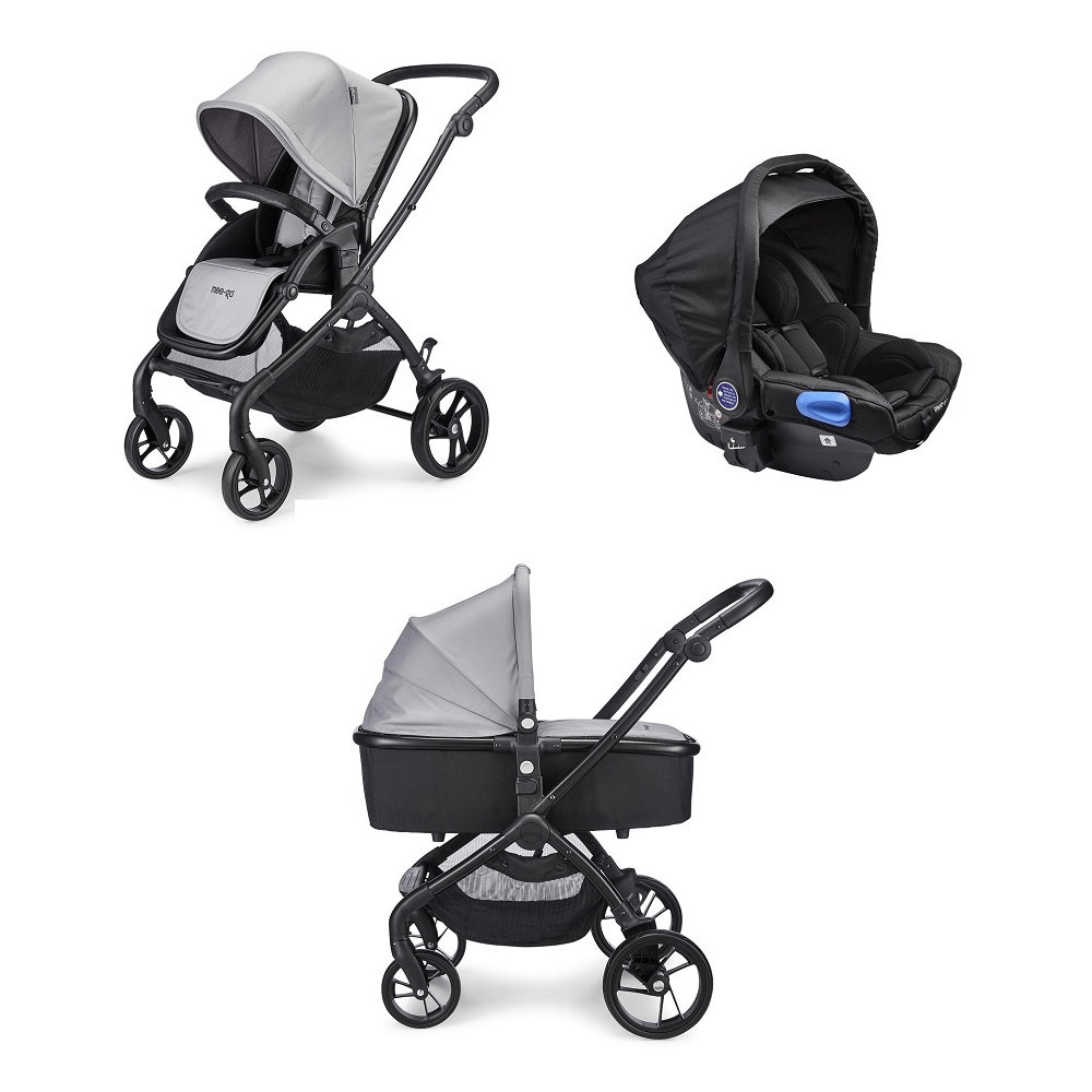 Mee-go Plumo Travel System Package - Ash Grey